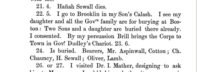 Excerpt from The Diary of Samuel Sewall, April 1719